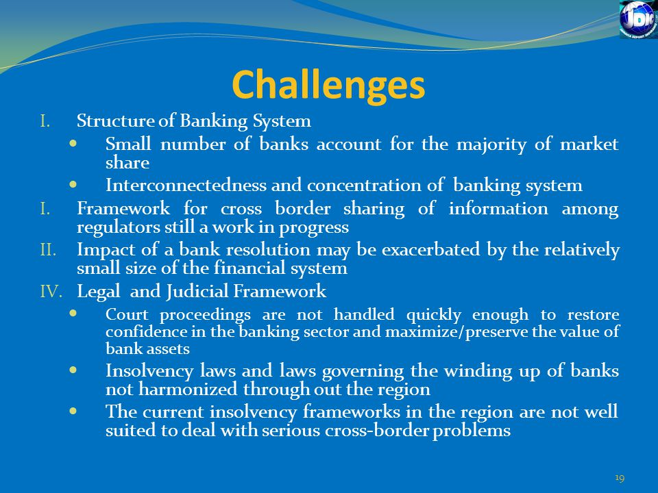 Challenges Structure of Banking System