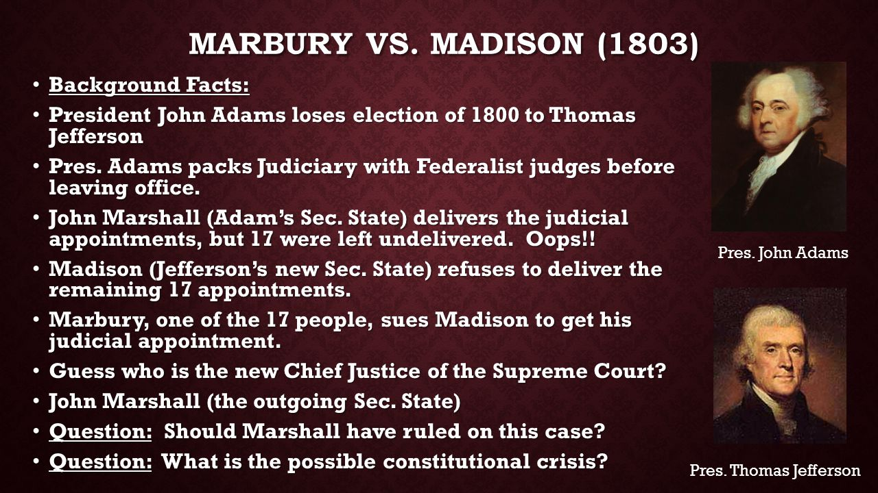 Image result for Marbury vs Madison