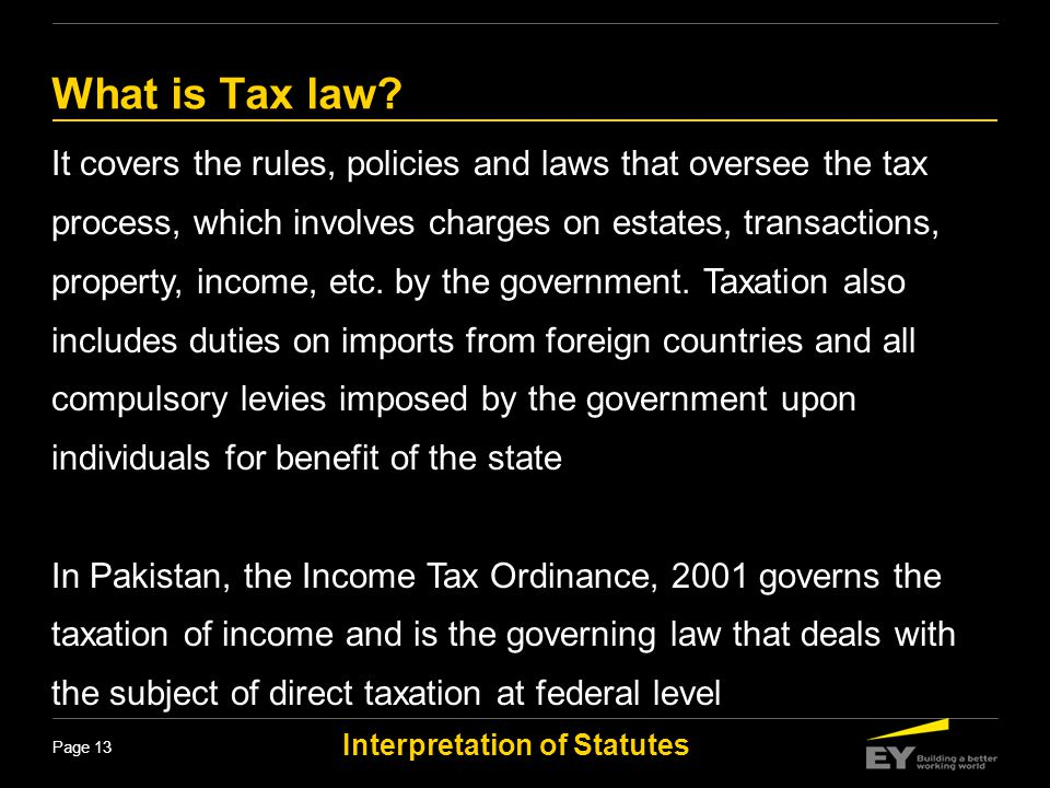 What is Tax law