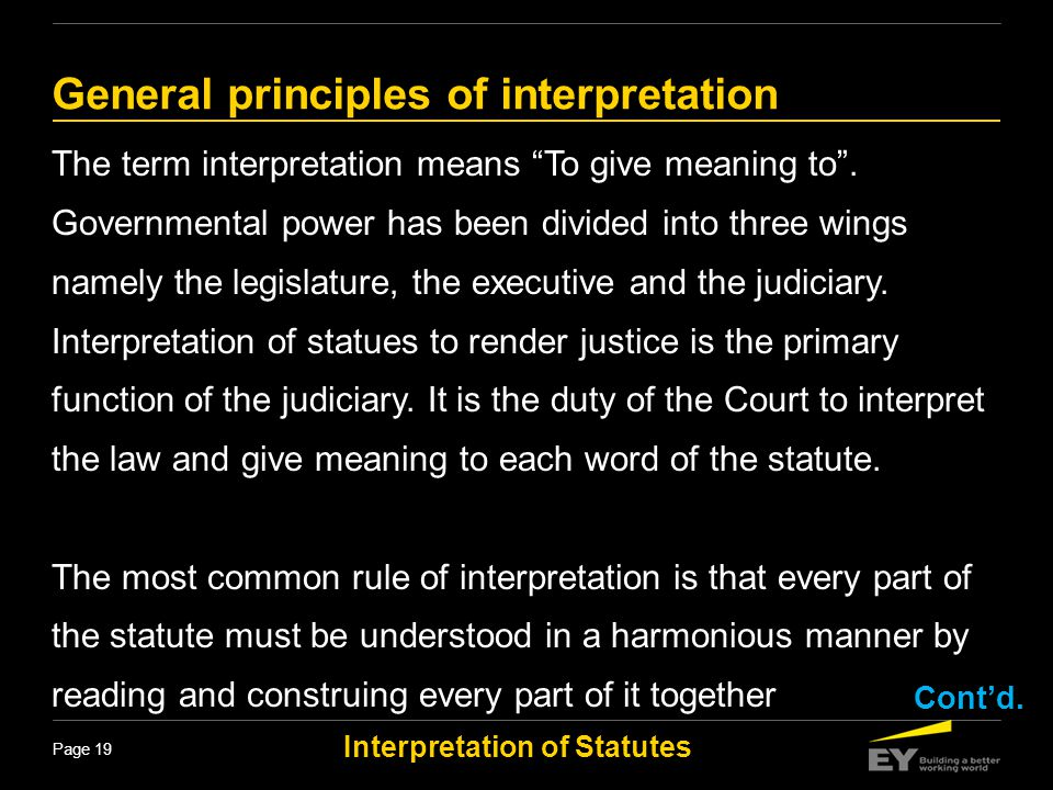 General principles of interpretation