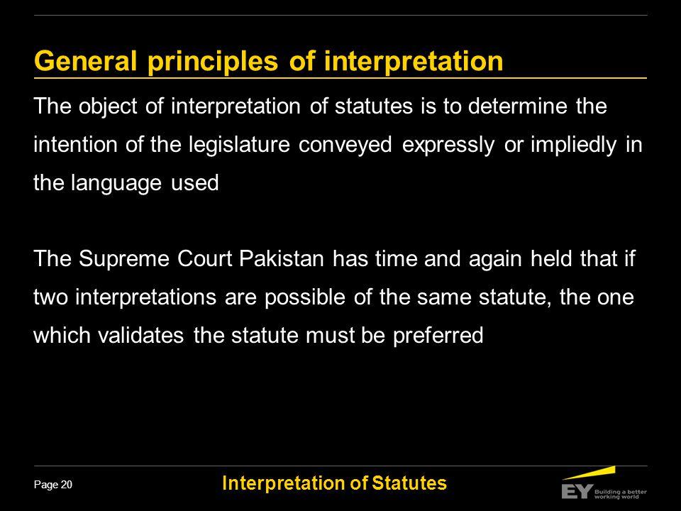 General principles of interpretation