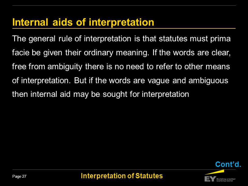 Internal aids of interpretation