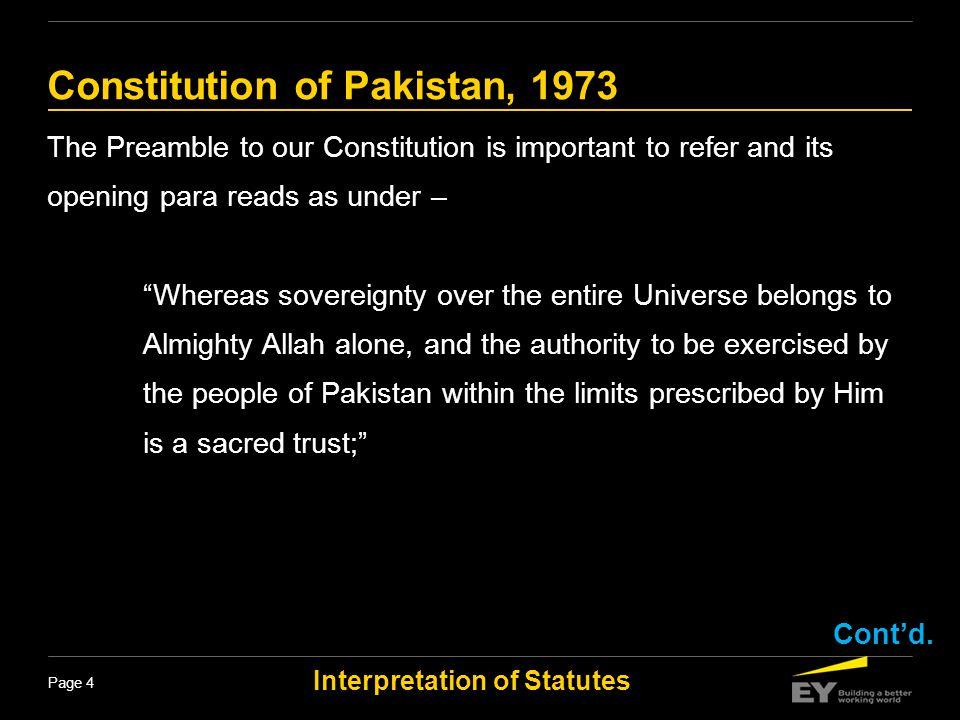 Constitution of Pakistan, 1973