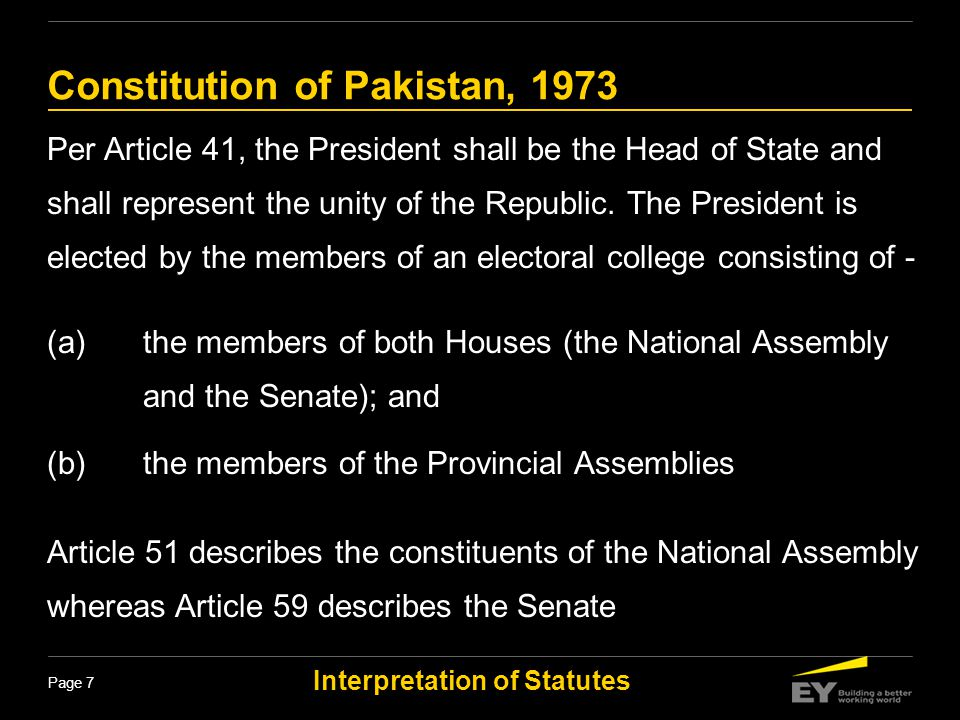 Constitution of Pakistan, 1973