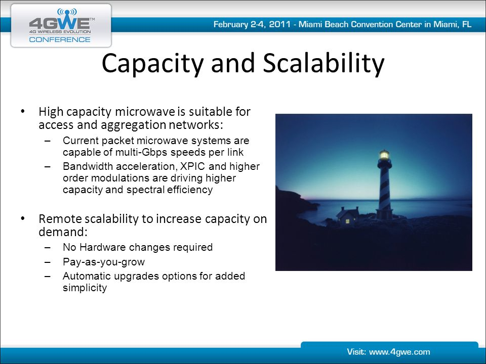 Capacity and Scalability