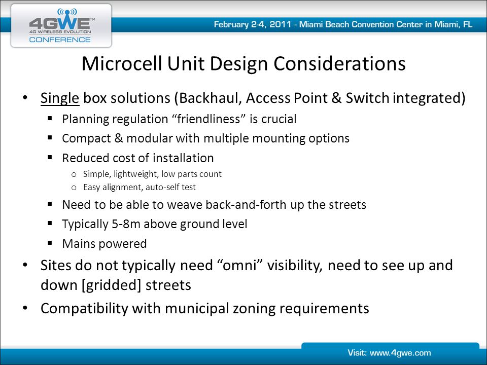 Microcell Unit Design Considerations