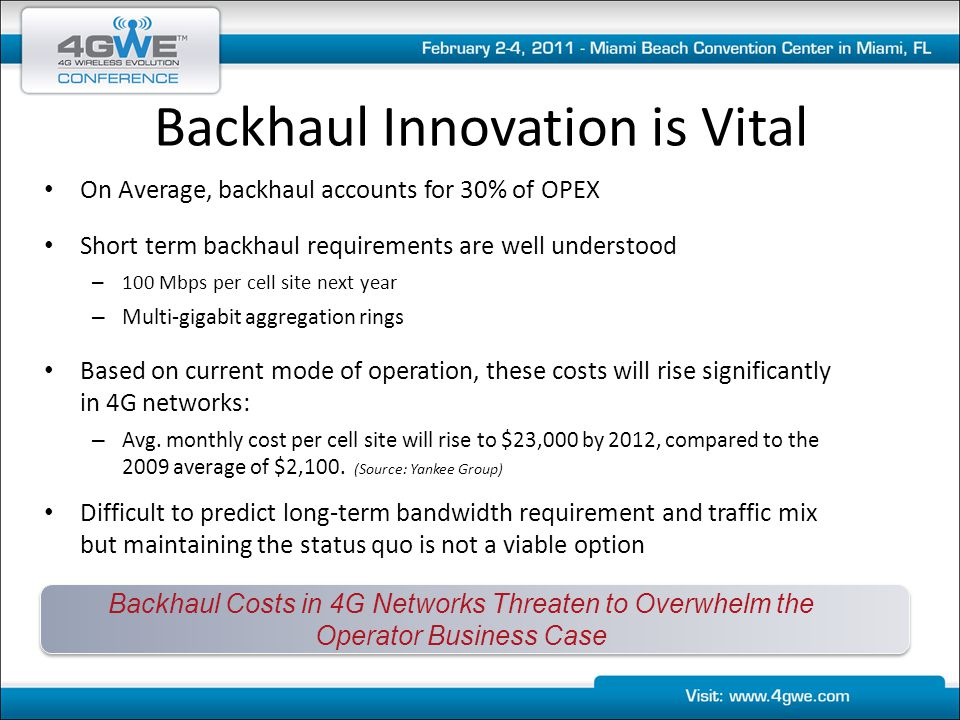 Backhaul Innovation is Vital