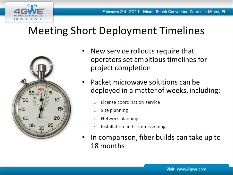 Meeting Short Deployment Timelines