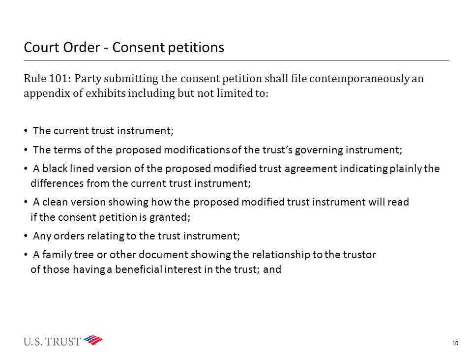 Court Order - Consent petitions