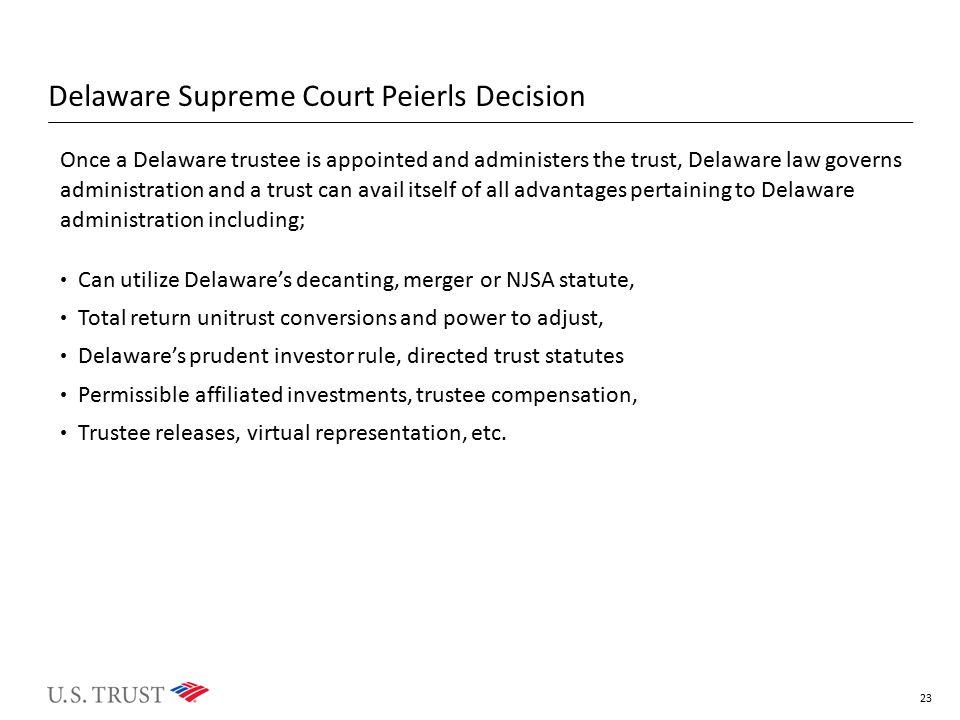 Delaware Supreme Court Peierls Decision