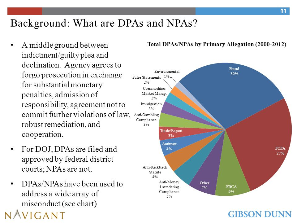 Background: What are DPAs and NPAs