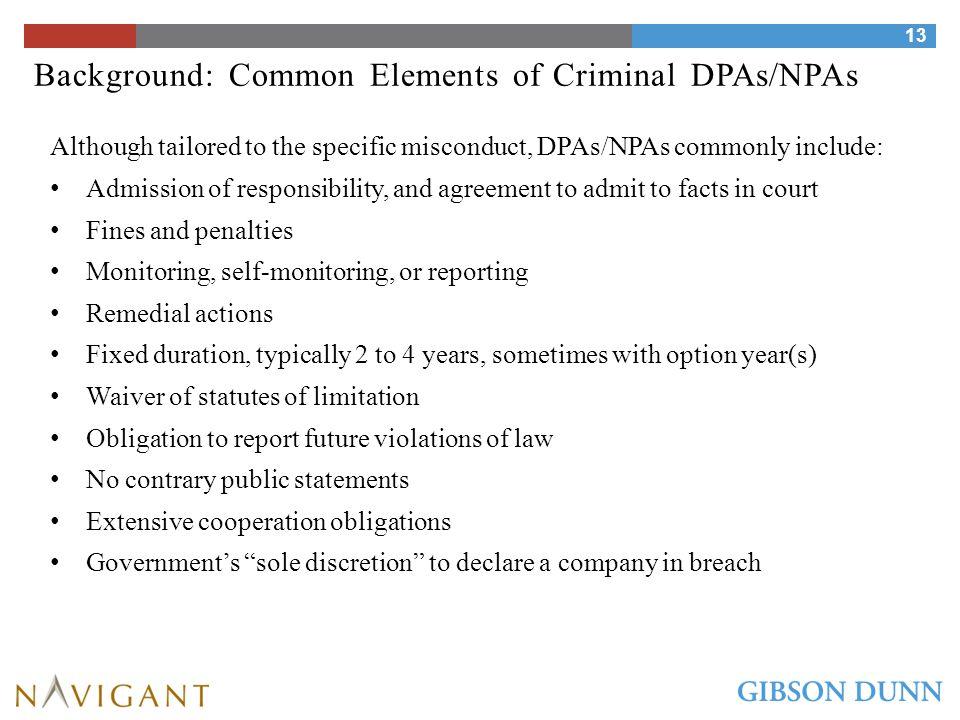 Background: What DOJ Entities Are Entering DPAs/NPAs