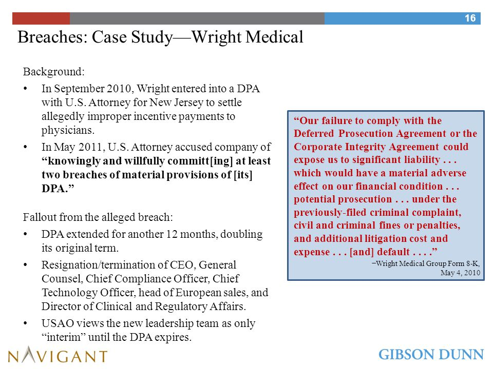 Breaches: Case Study—Wright Medical