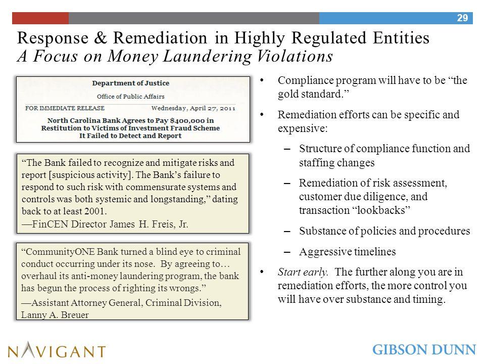 Remediation: Risk Assessment/Self-Evaluations