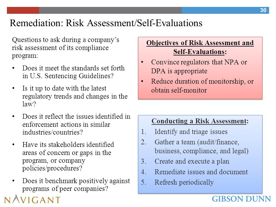 Remediation: Rise of Self-Monitoring/Reporting Reinforces Internal Risk Assessment Process
