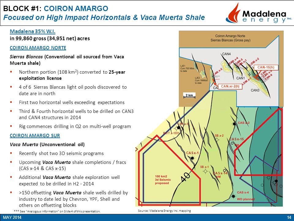 Focused on High Impact Horizontals & Vaca Muerta Shale