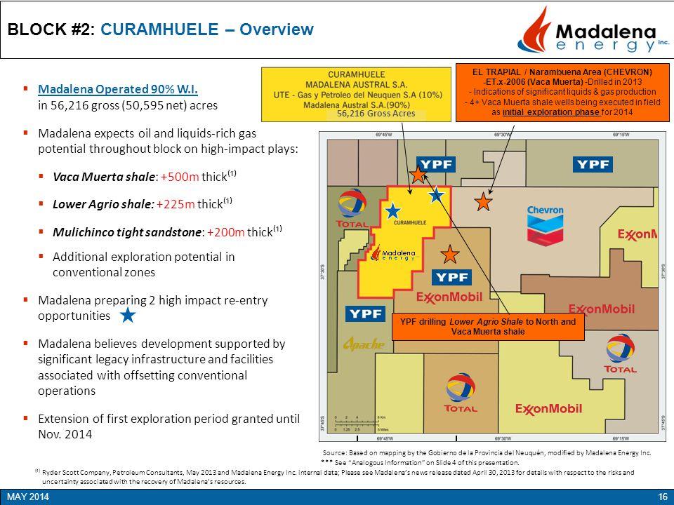 BLOCK #2: CURAMHUELE – Overview