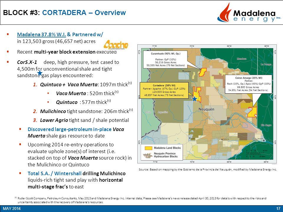 BLOCK #3: CORTADERA – Overview