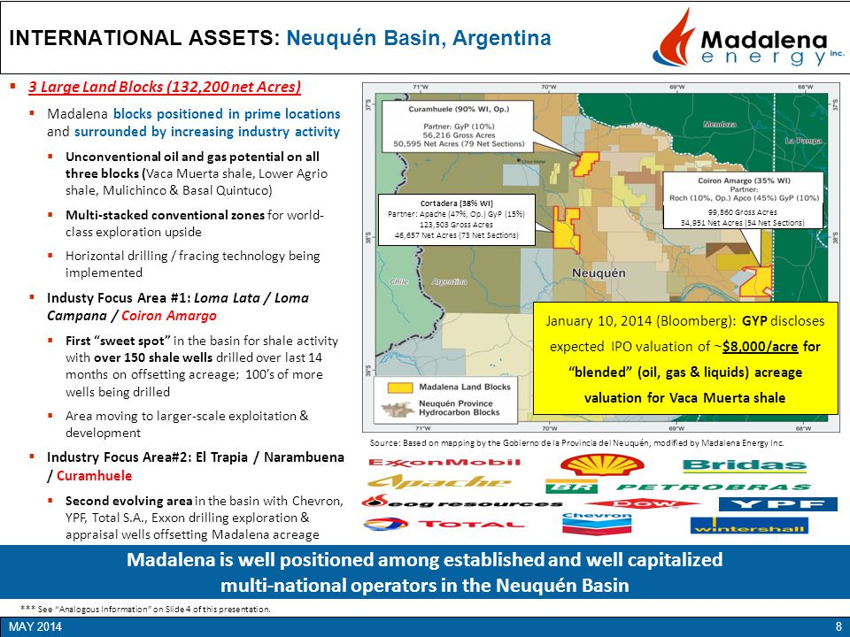 INTERNATIONAL ASSETS: Neuquén Basin, Argentina