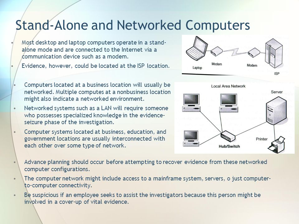 Stand-Alone and Networked Computers