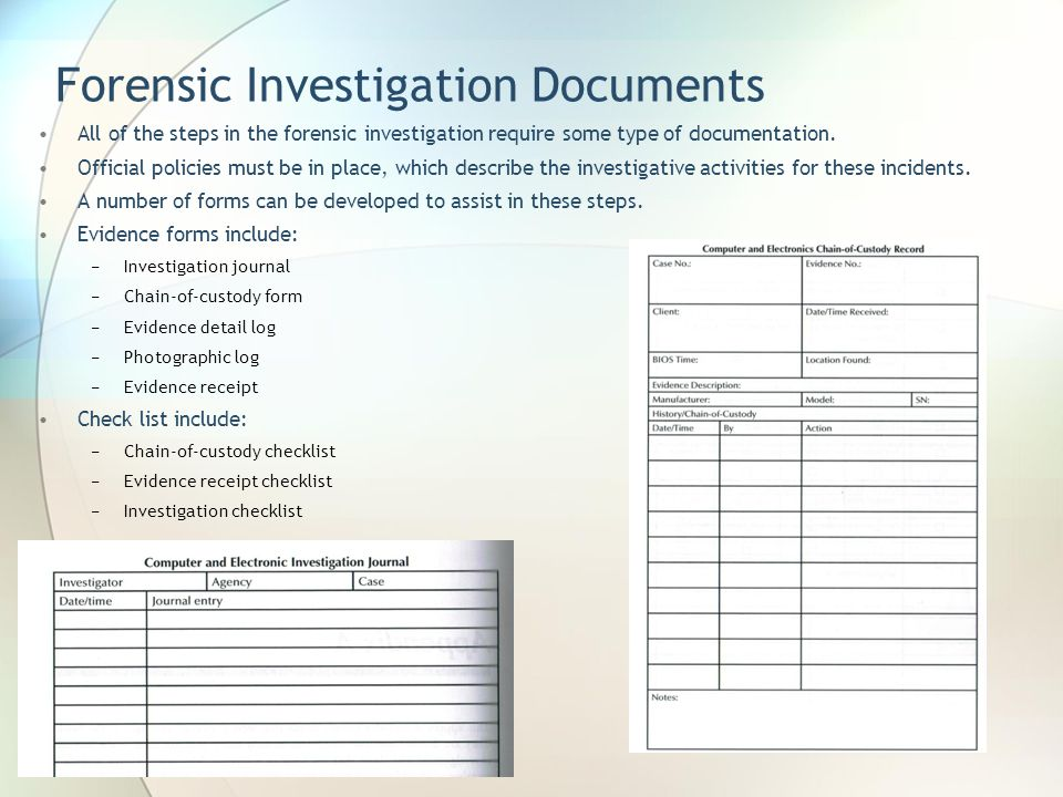Forensic Investigation Documents