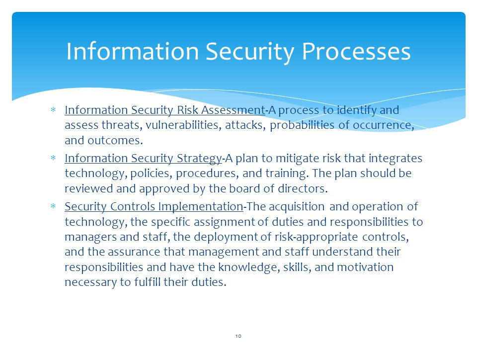 Information Security Processes