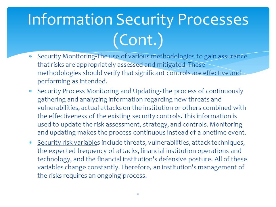 Information Security Processes (Cont.)
