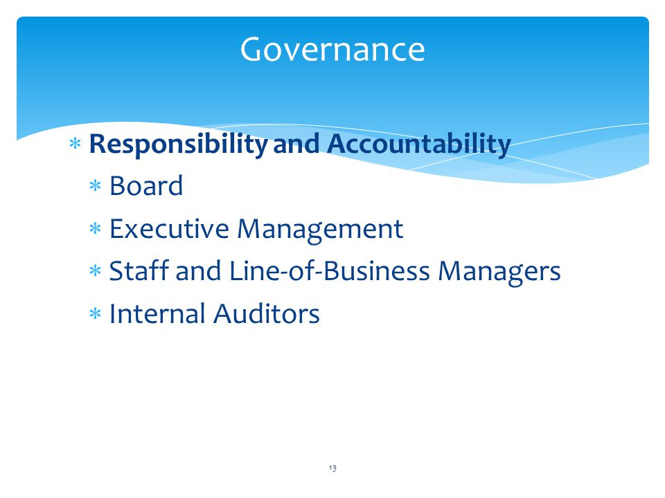 Governance Responsibility and Accountability Board