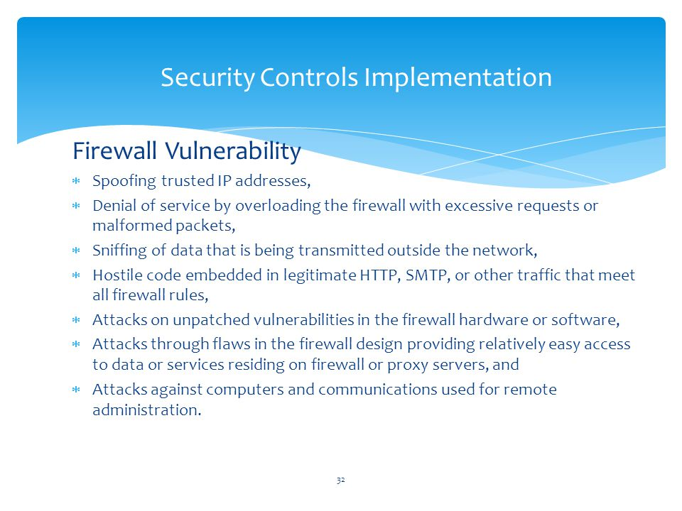 Security Controls Implementation