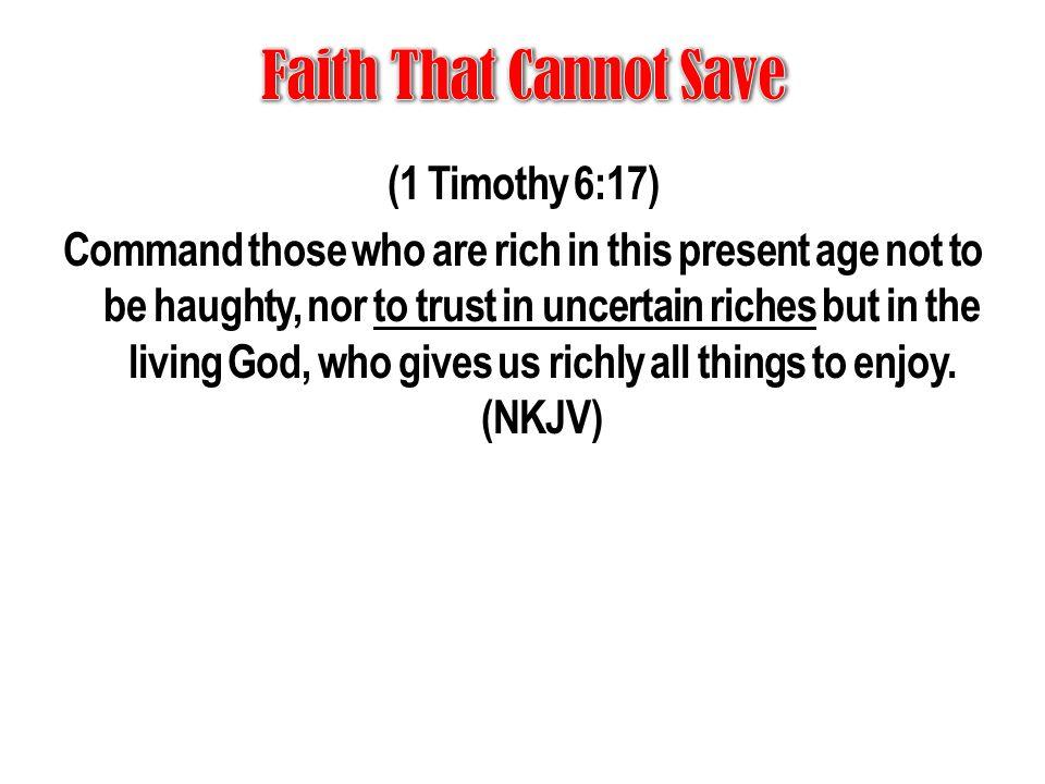 Faith That Cannot Save
