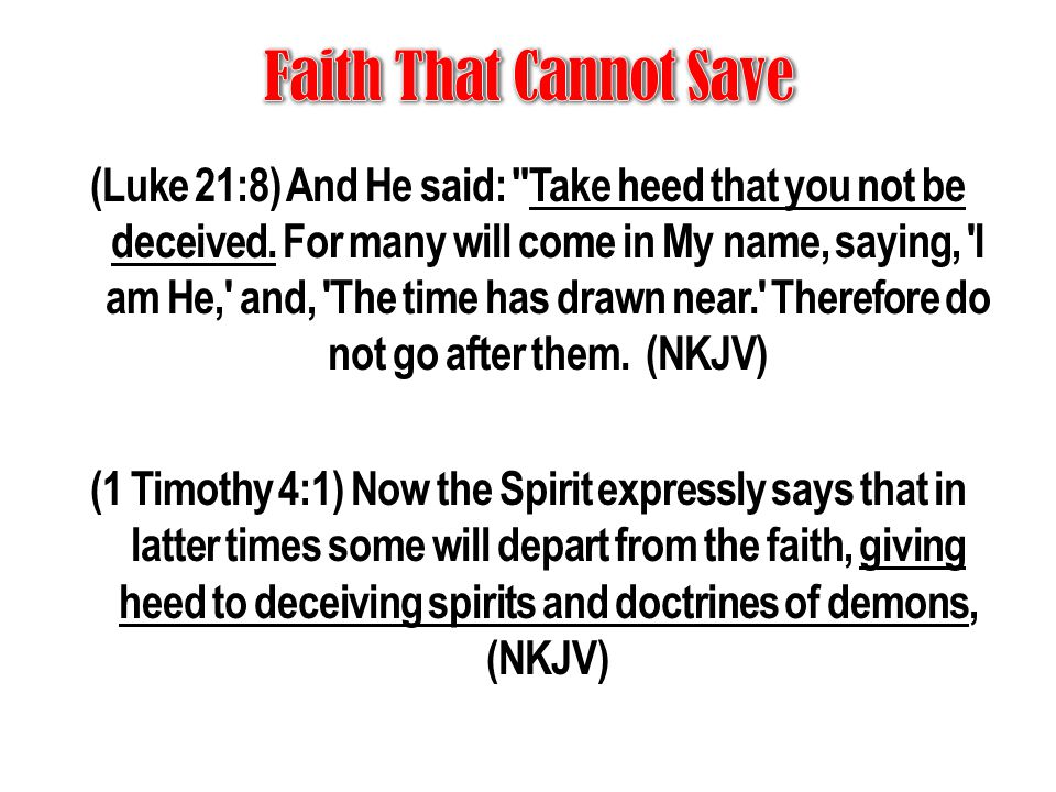 Faith That Cannot Save