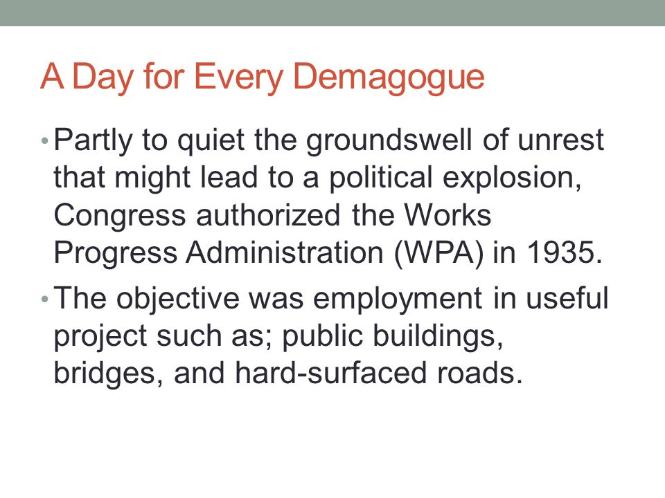 A Day for Every Demagogue