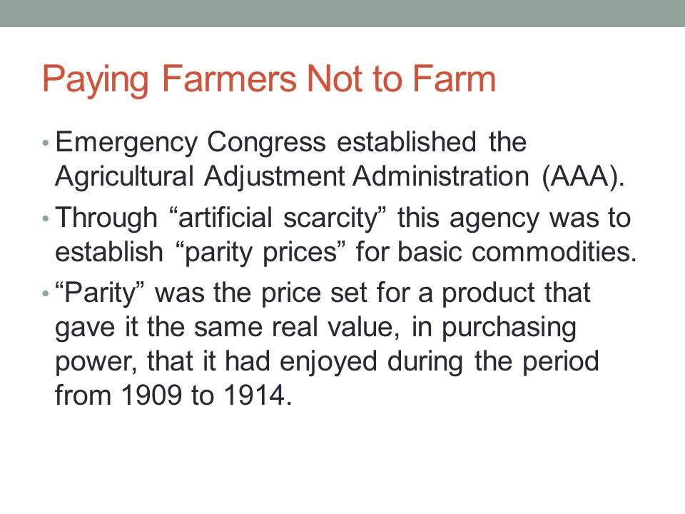 Paying Farmers Not to Farm