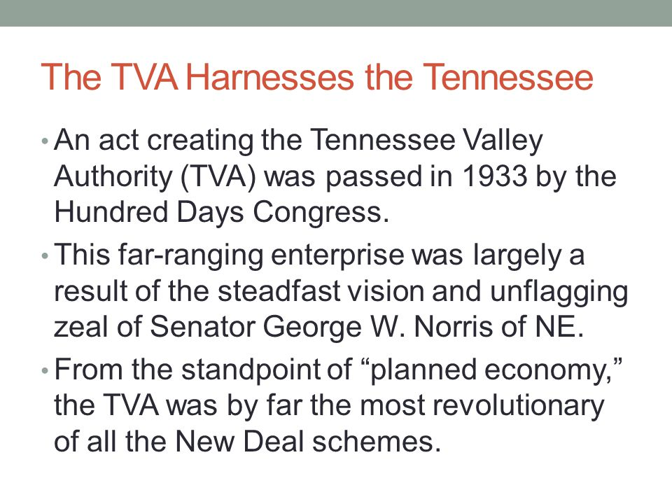 The TVA Harnesses the Tennessee