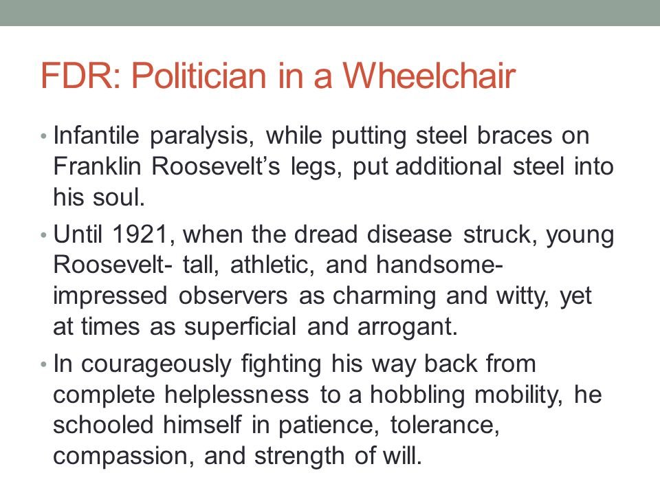 FDR: Politician in a Wheelchair