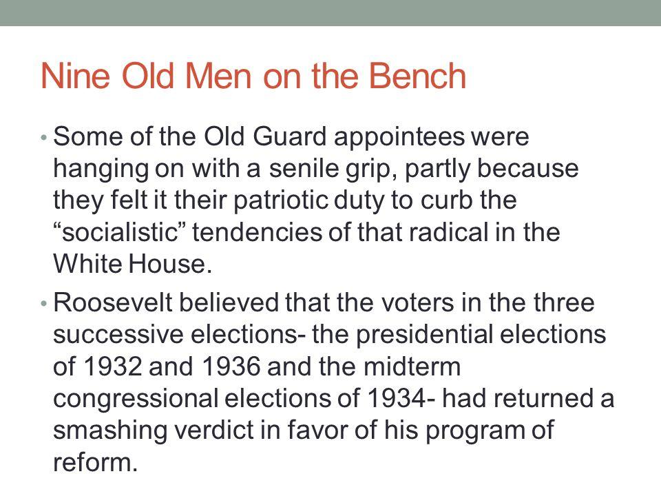 Nine Old Men on the Bench