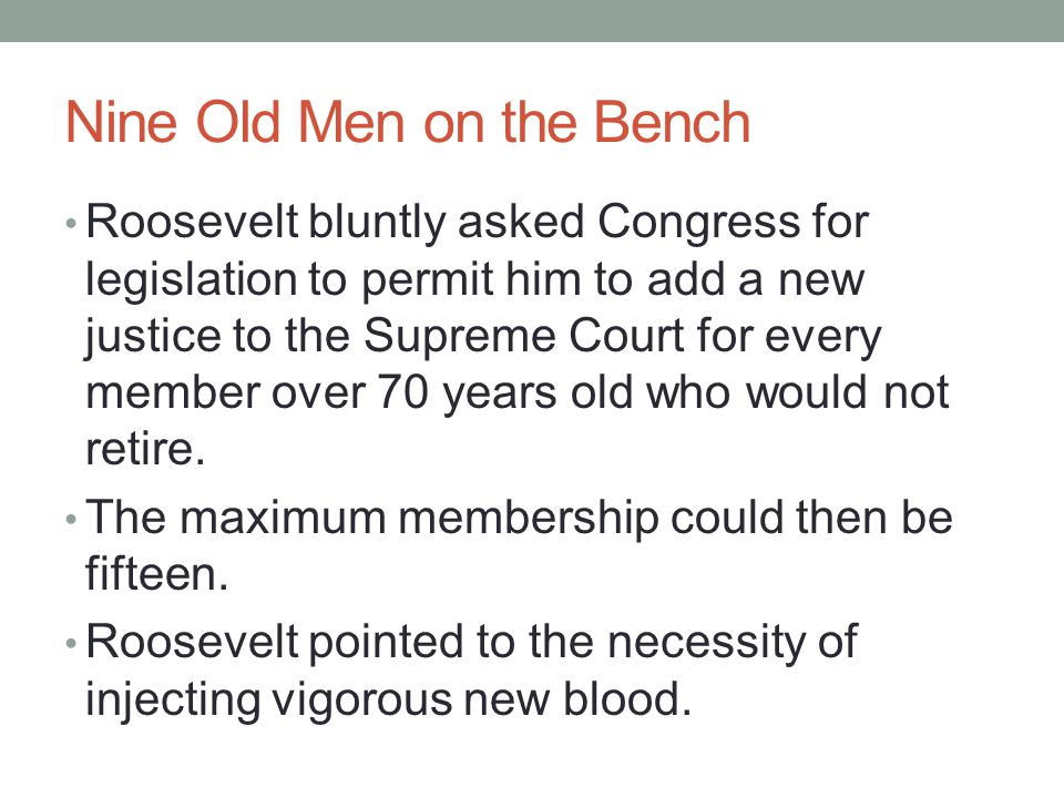 Nine Old Men on the Bench