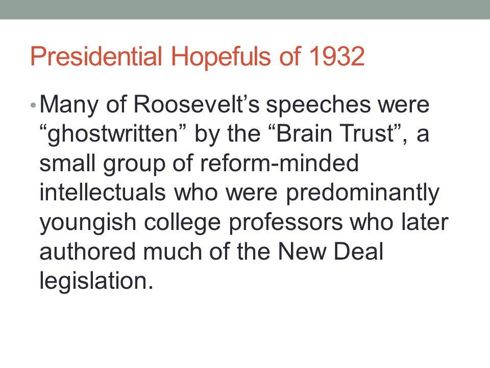Presidential Hopefuls of 1932