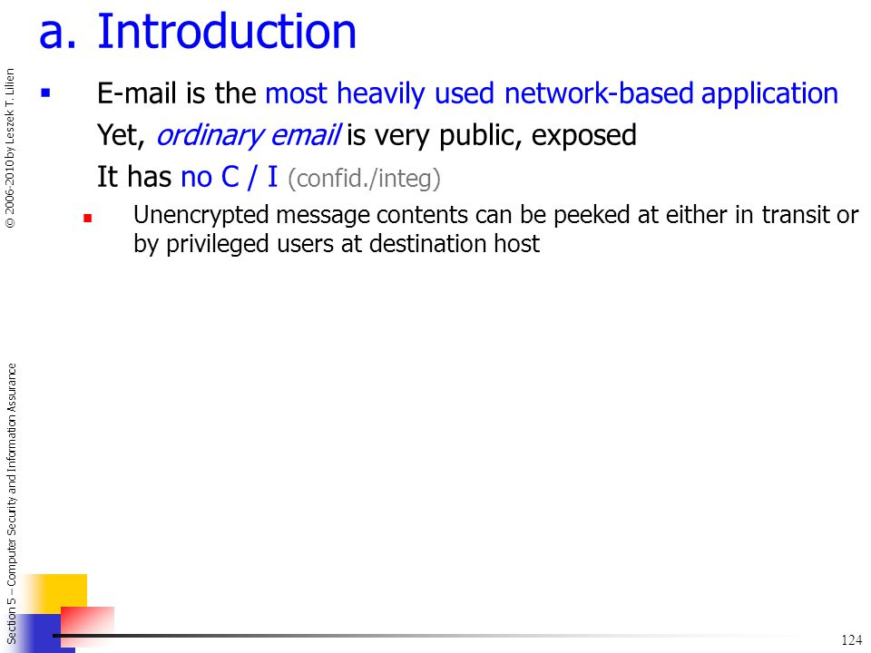 Introduction E-mail is the most heavily used network-based application