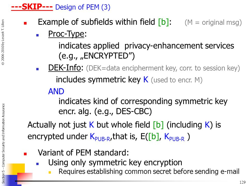---SKIP--- Design of PEM (3)