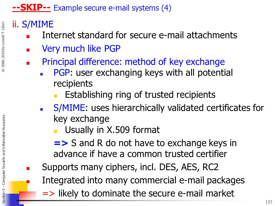 --SKIP-- Example secure e-mail systems (4)