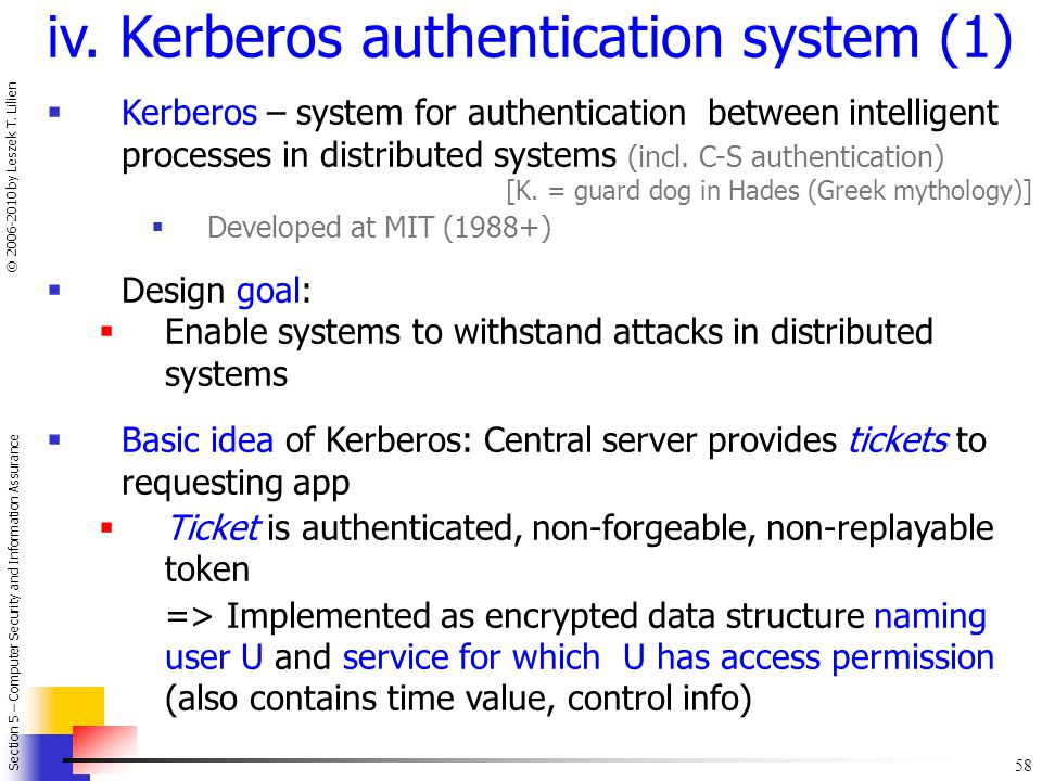 iv. Kerberos authentication system (1)
