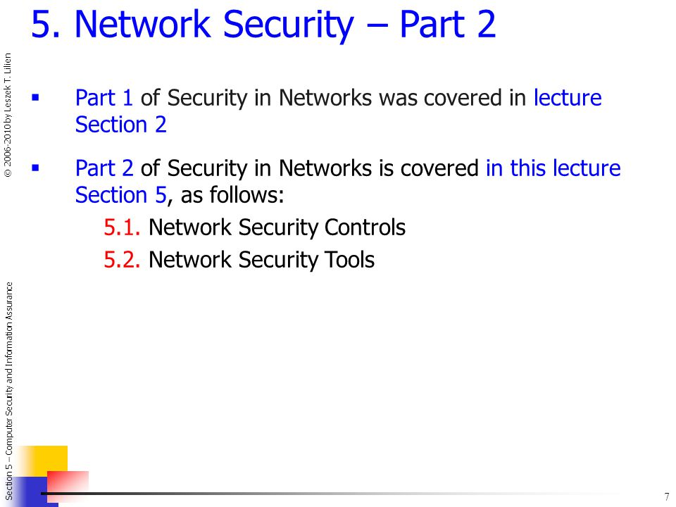 5. Network Security – Part 2