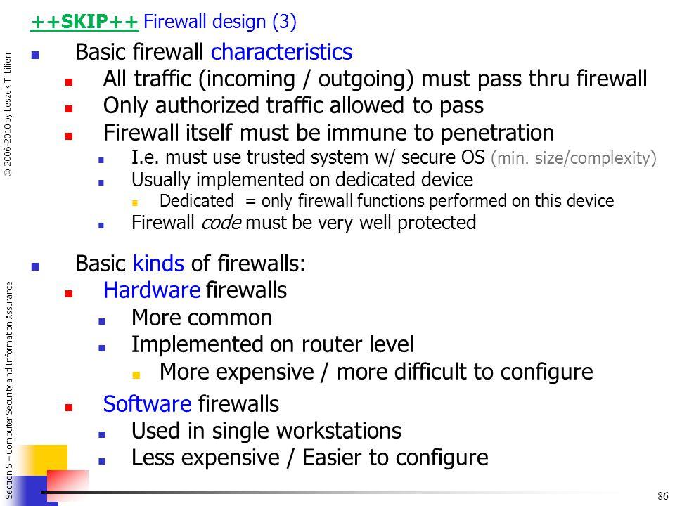 Basic firewall characteristics