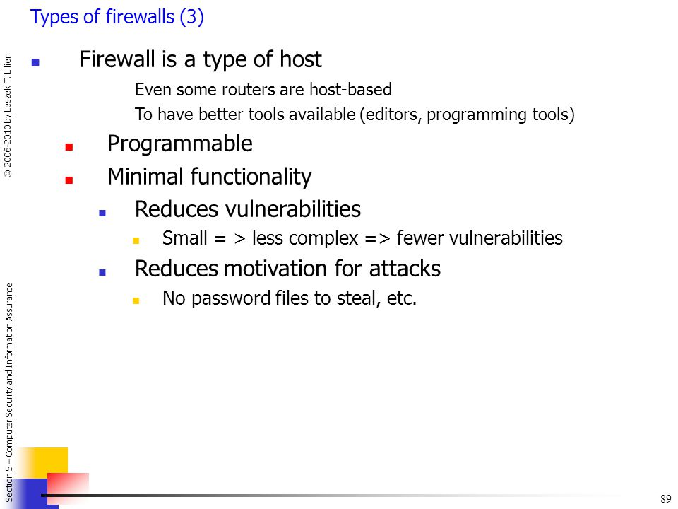 Firewall is a type of host
