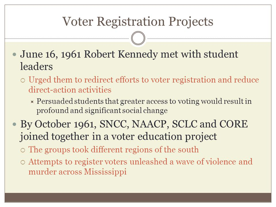Voter Registration Projects