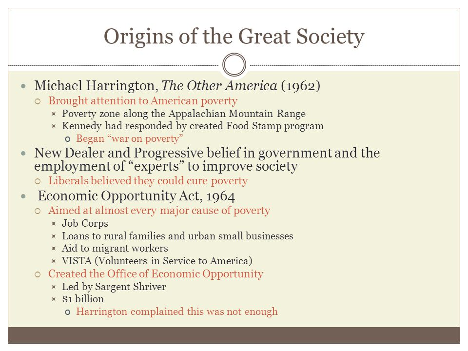 Origins of the Great Society