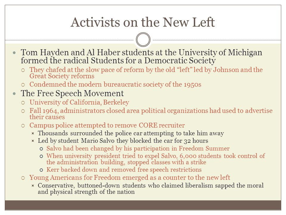 Activists on the New Left