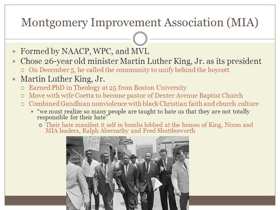 Montgomery Improvement Association (MIA)