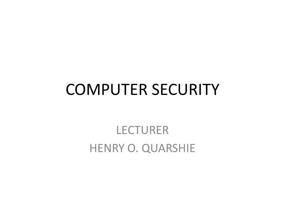 LECTURER HENRY O. QUARSHIE
